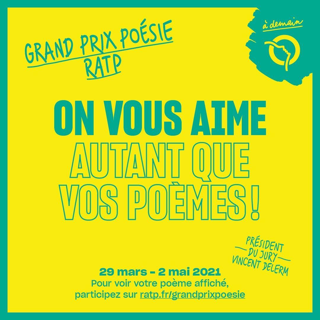 Le Grand Prix Poésie RATP 2021