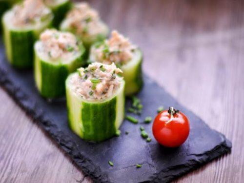 Bouchées crabe concombre