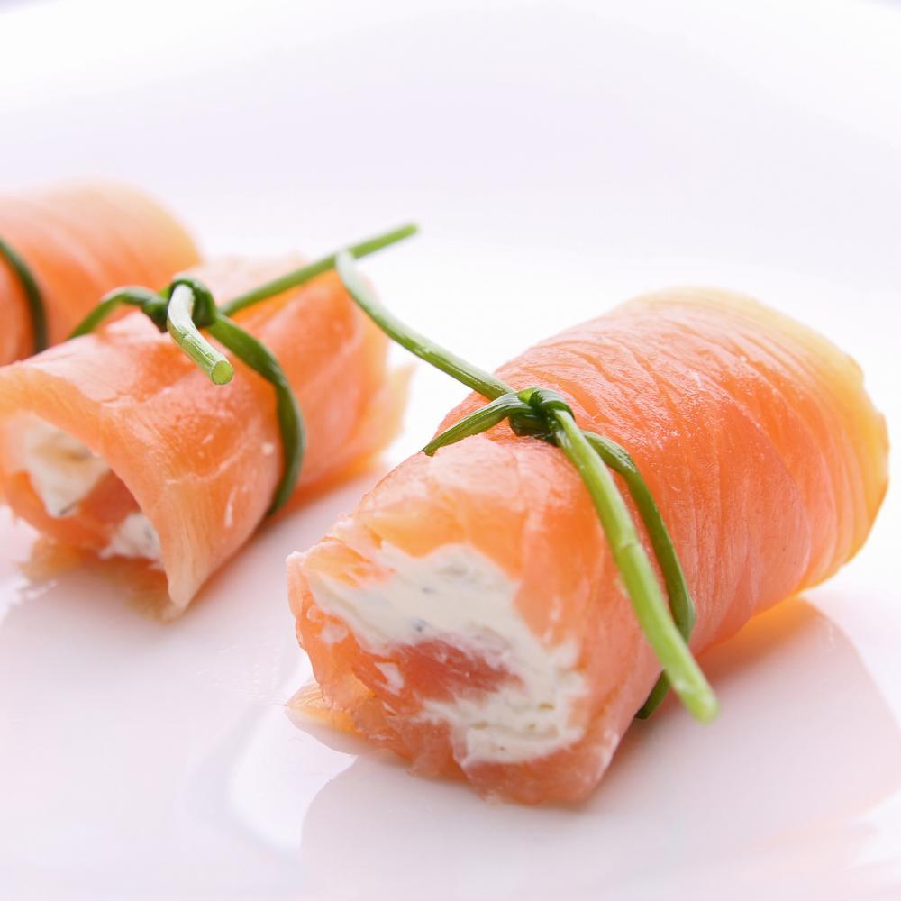 Rouleaux de saumon fumé